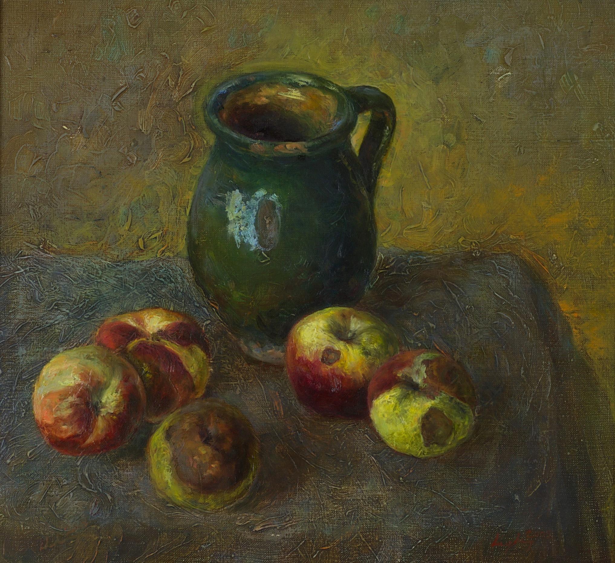 almás csendélet